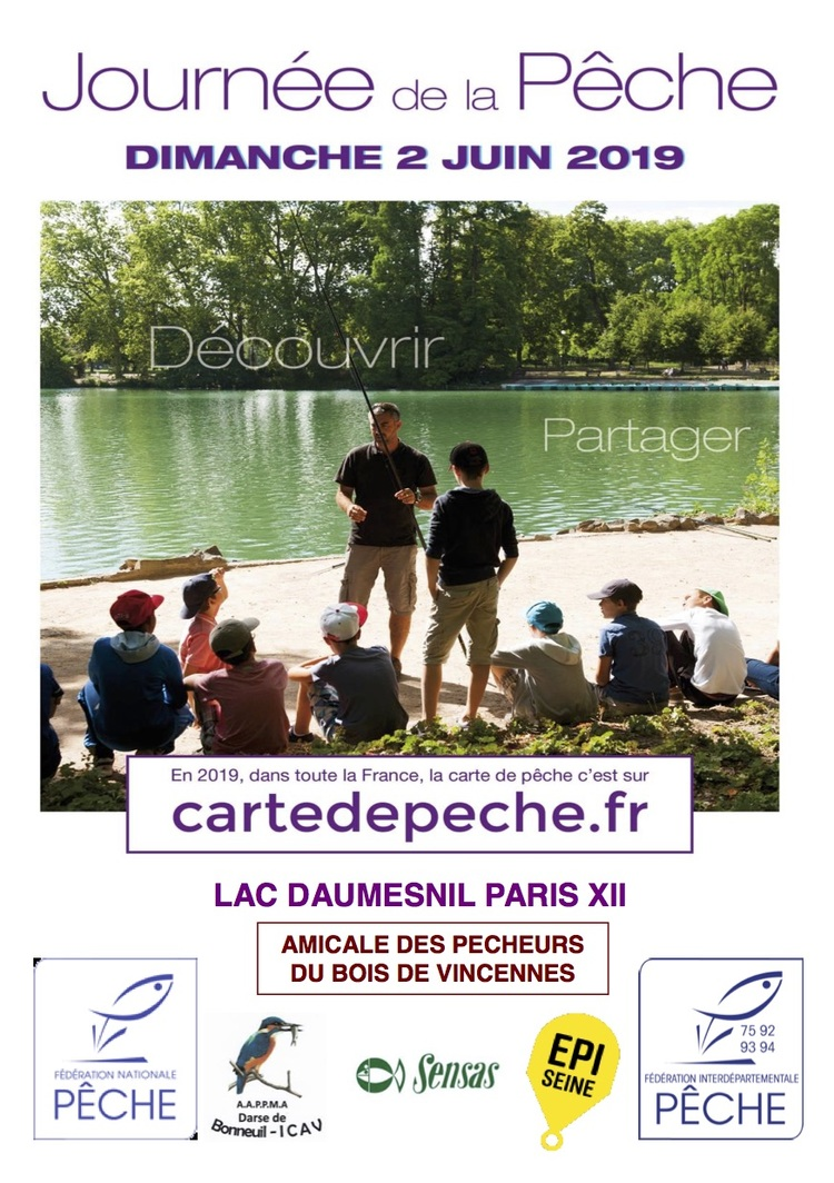 Programme fête pêche Paris (Association de pêche à Paris)