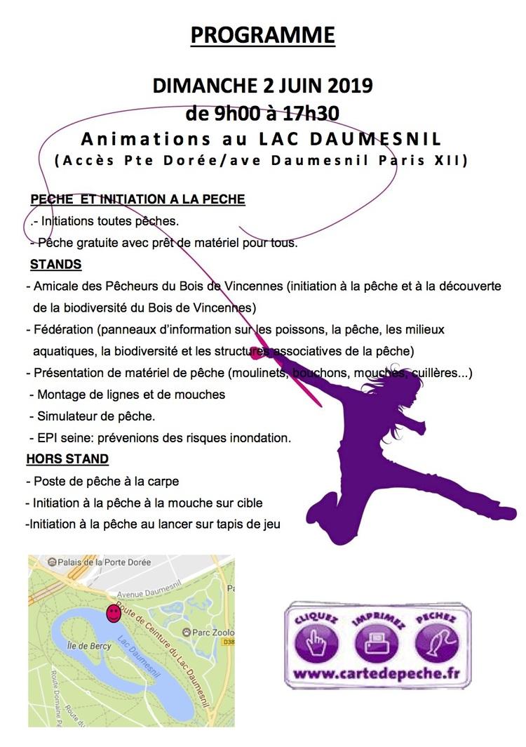 Programme fête pêche Paris (Association de pêche à Paris)