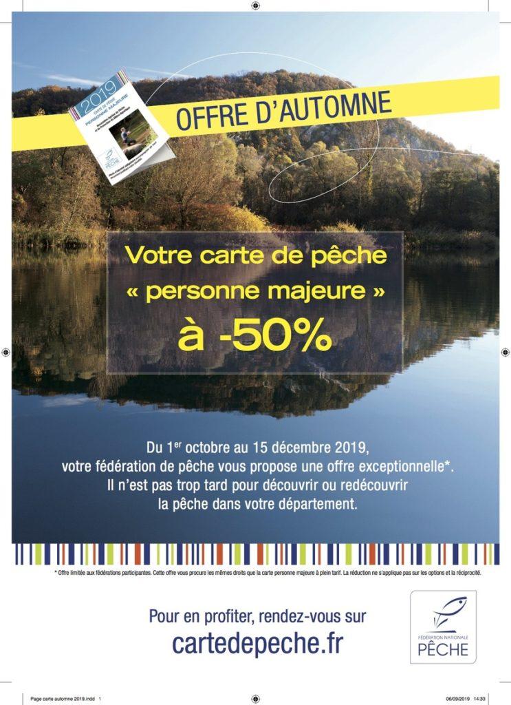 Pêche Paris carte automne 2019